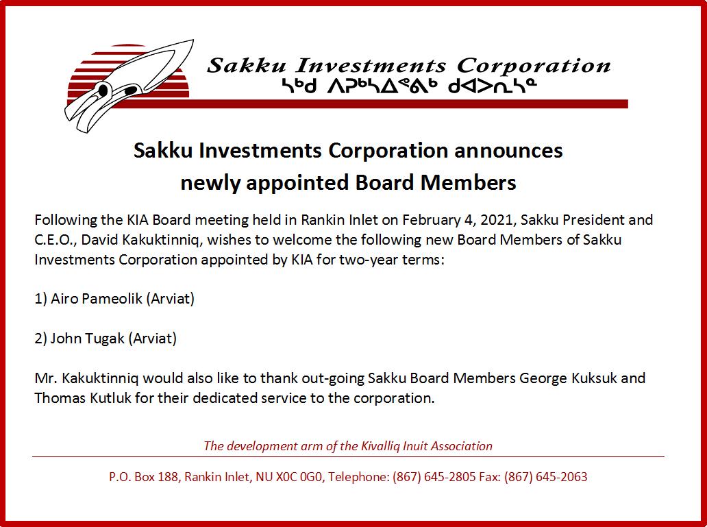 Sakku 2021 Board Member announcement w border